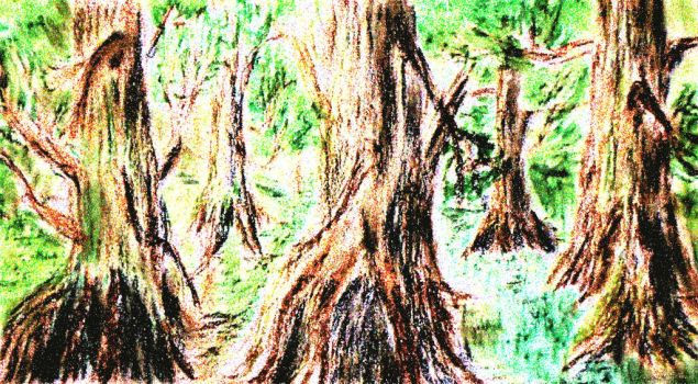 The forest is marchering. by KAY-painting