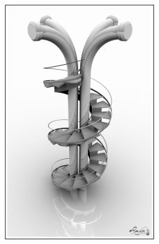 Pipes and Stairs by cg-art