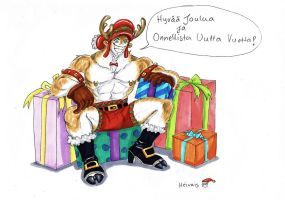 Christmas reindeer, just say by heivais