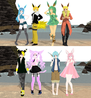 Eeveelution Models -First Look!- by The-Enticing-Empty
