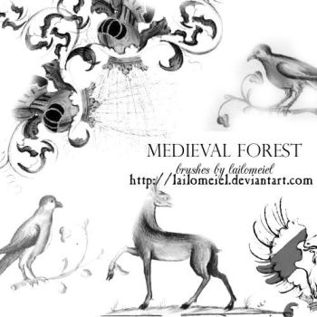 Medieval Forest Brushes by lailomeiel
