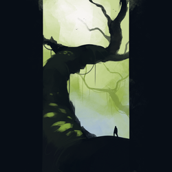 Daily 30 Minute Speed Painting - Treetop Trail by GenelJumalon