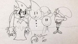 Snow Wander and Lord Hater by Treythornton19