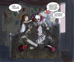 Elizabeth and Pennywise. by Spizzina00