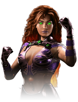 Starfire v.2 - Injustice 2 Render by YukiZM