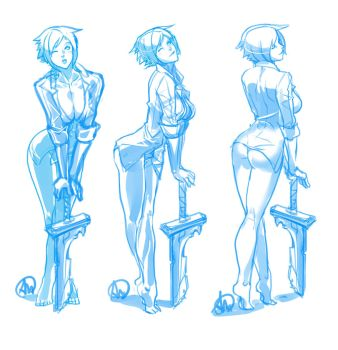 League of Legends - statue sketch: guess who? by Ganassa