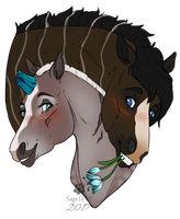 CM || Headshot | Eshana and Ithran by SagaWolf