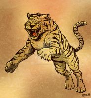Tiger by Andres-Iles