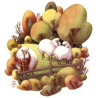 autumn sheeps by Iraville