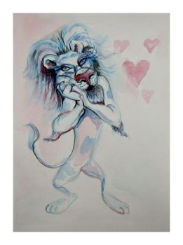 Lion in Love by franciart