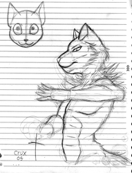Weirdness being drawn on the notebook by Pokecrz