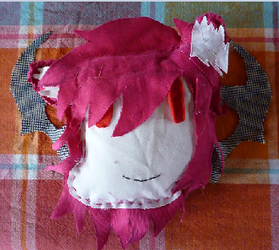 kagari's head plush with wings by klonoa-and-sonic