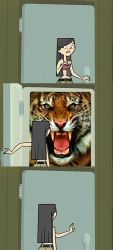 Heather Opens the Fridge and Finds a Tiger by Uranimated18