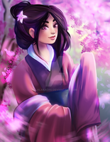 Disney Princess/Heroine - Mulan by LalaKachu