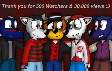 500 watchers special pic ^^ by ZachMFKAttack