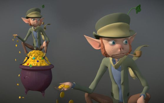 Lucky The Leprechaun 3D Model by dippydude