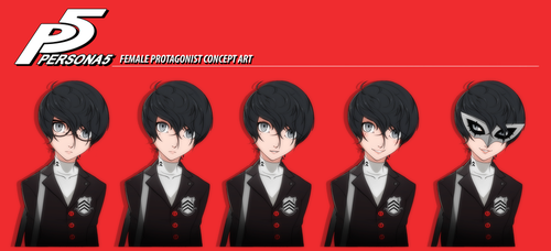 Persona 5 Female Protagonist REVAMPED by felitomkinson