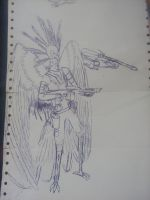 Pen Stuff 08 (secretary bird character) by Martinkarovic