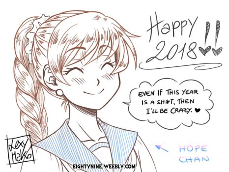 Happy New Year 2018 - Hope Chan by LexyMako