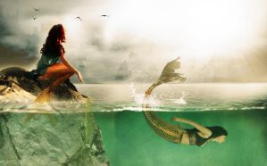 The Mermaids and the Sun by FlashHugz