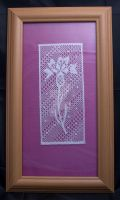 Bobbin Lace Flower Panel by averil-hylton