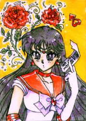 Mars holding ofuda - ACEO no07 by unconventionalsenshi