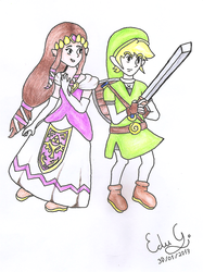 Zelda and Link by Nintendo385