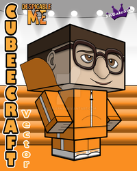 Despicable Me Vector Cubeecraft template 3D by SKGaleana