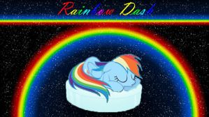 Rainbow Dash napping by RainbowDashRocks101