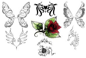 more tattoos and butterflies by dreamangelkristi