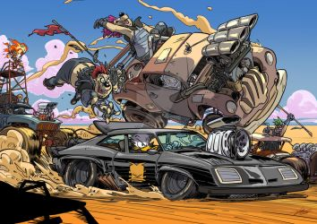 Mad Duck Rockatansky the chase by tommasorenieri