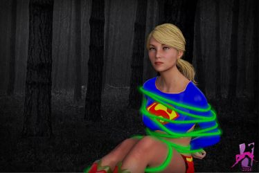 Supergirl trapped in the Dark Woods by ZetaClark