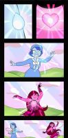Commission - Peach fusion dance comic by Geminine-nyan