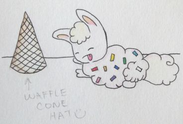 French Vanilla Boopybun with Waffle Hat!! by Sk8rcat640