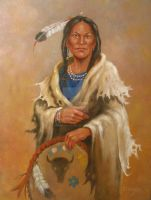 Indian Woman by Old-Mountain-Man