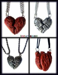 Broken Hearts, seperating necklaces by Ideationox