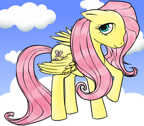 Fluttershy by blargofdoom