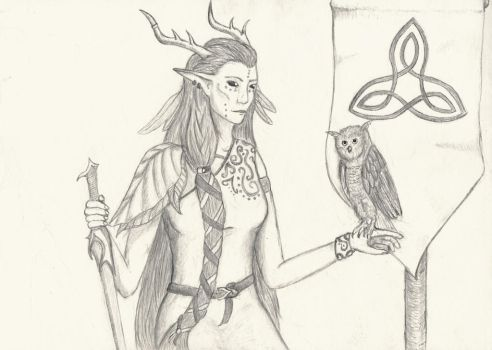 Titania, the Queen of the Sidhe by Amianas