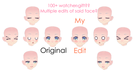 MMD - Chibi/Child head facial fix by AkariKeys