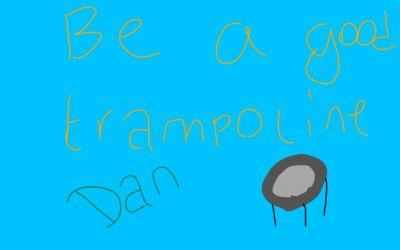 Be A Good Trampoline, Dan by dantania-dan
