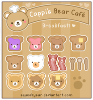 Bear Cafe Breakfast Menu by SqueakyToybox