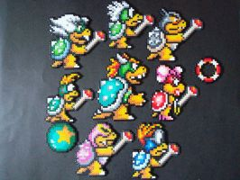 Perler Bead Koopa Family by EP-380