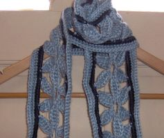 Blue Venus Flower Scarf by ChezMichelle