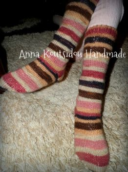 Knitted Socks by annakoutsidou