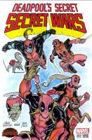 Deadpool corps sketch cover by mdavidct