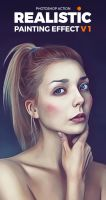 Realistic Painting Photoshop Action by hemalaya