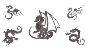 Dragon Tattoo Designs by WyvernFlames