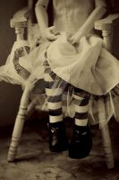 Striped Stockings by mybluemoonstudio