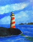 Lighthouse Cityscape Background by peimar