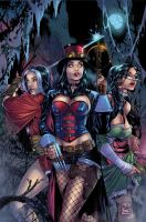 Zenescope Hunters cover Colors by GiuliaPriori